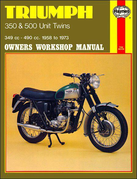 Triumph 350 & 500 Unit Twins 1958 - 1973 Haynes Owners Service & Repair Manual - Front Cover