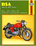 BSA A50 & A65 Twins 1962 - 1973 Haynes Owners Service & Repair Manual - Front Cover