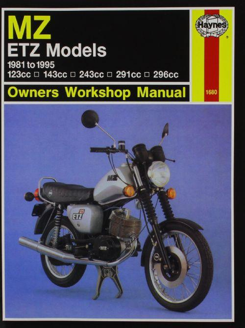 MZ ETZ Models 1981 - 1995 Haynes Owners Service & Repair Manual - Front Cover