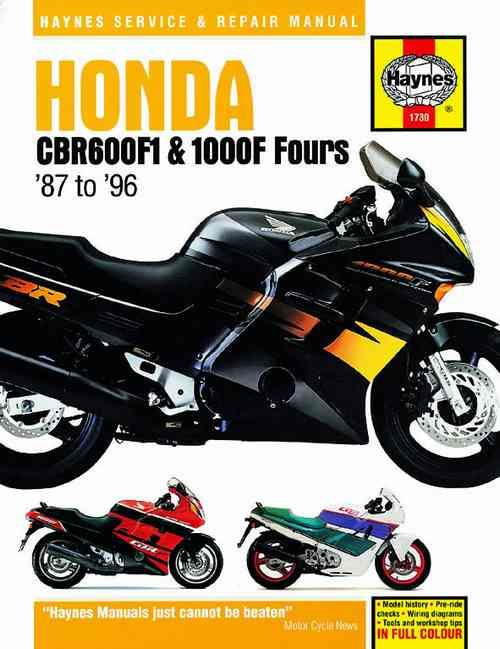 Honda CBR600F1 & 1000F Fours 1987 - 1996 Haynes Owners Service & Repair Manual