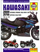 Kawasaki ZX600 & ZX750 Fours 1985 - 1997 Haynes Owners Service & Repair Manual