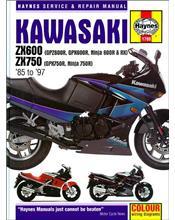 Kawasaki ZX600 & ZX750 Fours 1985 - 1997 Haynes Owners Service & Repair Manual