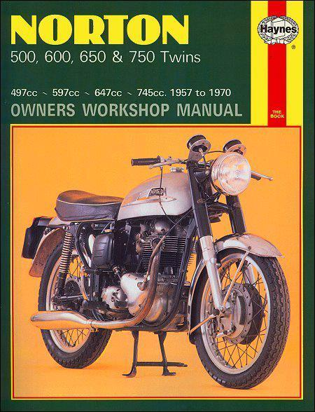 Norton 500, 600, 650 & 750 Twins 1957-1970 Haynes Owners Service & Repair Manual - Front Cover