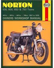 Norton 500, 600, 650 & 750 Twins 1957-1970 Haynes Owners Service & Repair Manual