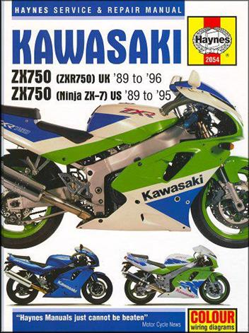 kawasaki ninja zx7, zx750, zxr750 1989 - 1996 - front cover
