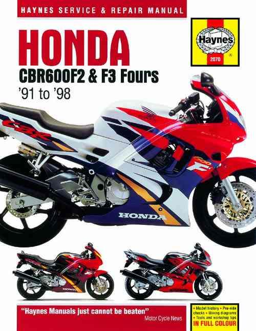 Honda CBR600F2 & F3 Fours 1991 - 1998 Haynes Owners Service & Repair Manual