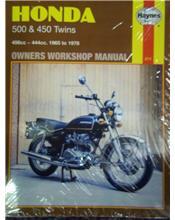 Honda 500 and 450 Twins 1965 - 1978 Haynes Owners Service & Repair Manual