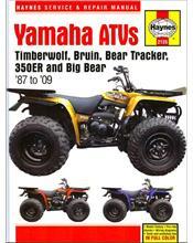 Yamaha Timberwolf, Bruin, Bear Tracker, 350ER & Big Bear ATVs 1987 - 2009