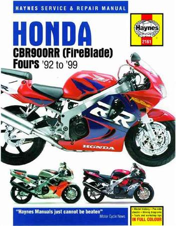 Honda CBR900RR FireBlade Fours 1992 - 1999 Haynes Owners Service & Repair Manual - Front Cover