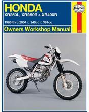 Honda XR250L, XR250R & XR400R 1986 - 2004 Haynes Owners Service & Repair Manual