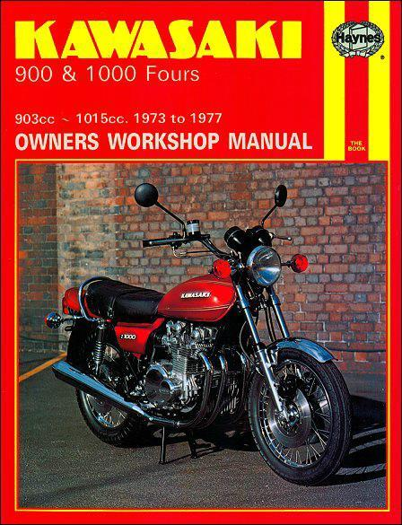 Kawasaki 900 & 1000 Fours 1973 - 1977 Haynes Owners Service & Repair Manual - Front Cover