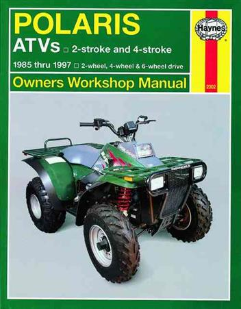 Polaris ATVs 1985 - 1997 Haynes Owners Service & Repair Manual - Front Cover