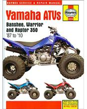 Yamaha YFZ350 Banshee, YFM350X Warrior, YFM35 Raptor 350 1987 - 2010