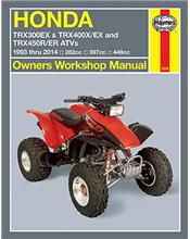 Honda TRX300EX & TRX400EX ATVs 1993 - 2014 Haynes Owners Service & Repair Manual