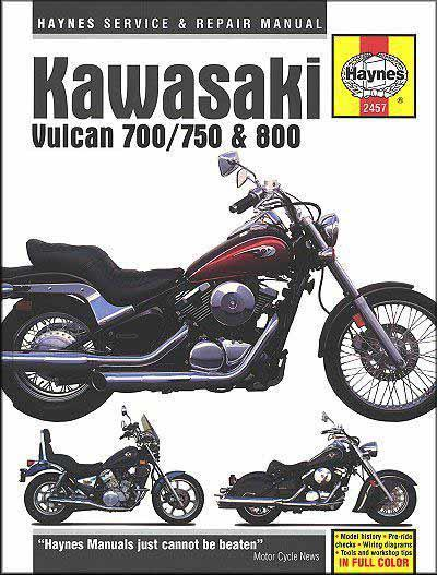 Kawasaki Vulcan 700/750 & 800 1985 - 2006 Haynes Owners Service & Repair Manual
