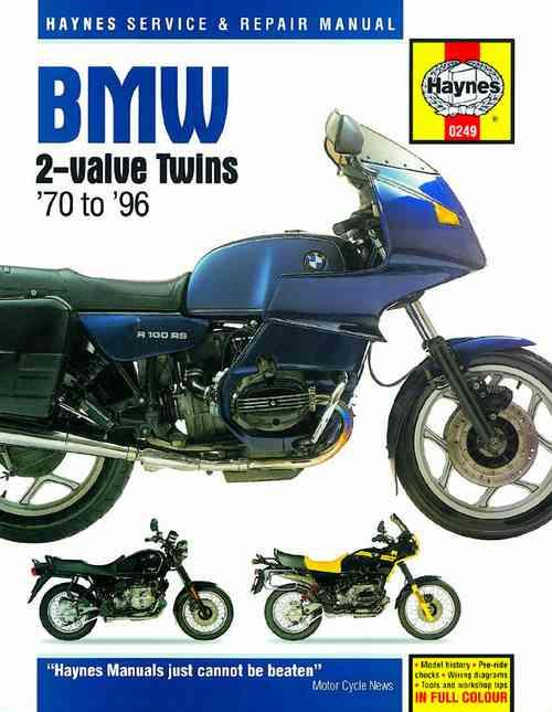 BMW 2 Valve Twins 1970 - 1996 Haynes Owners Service & Repair Manual - Front Cover