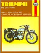 Triumph Pre-Unit Twins 1947 - 1962 Haynes Owners Service & Repair Manual - Front Cover