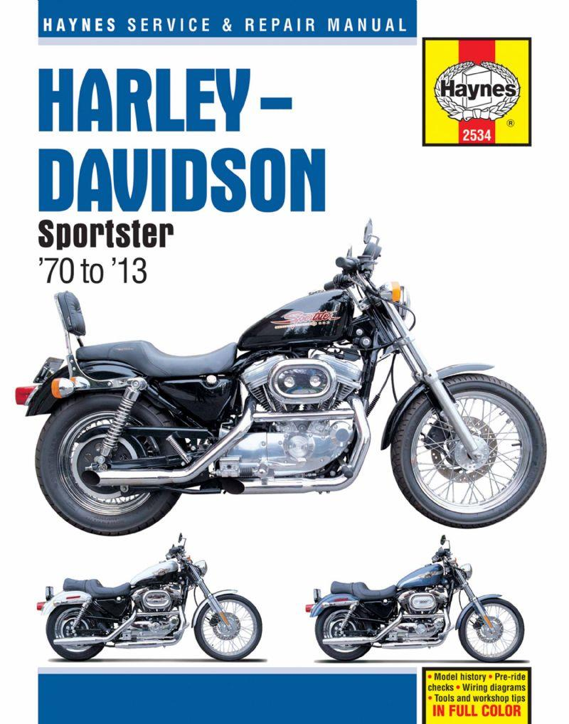 Harley Davidson Sportsters 1970 - 2013 Haynes Owners Service & Repair Manual - Front Cover