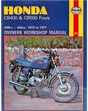 Honda CB400 & CB550 Fours 1973 - 1977 Haynes Owners Service & Repair Manual