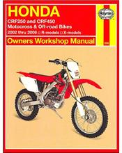 Honda CRF250 & CRF450 2002 - 2006 Haynes Owners Service & Repair Manual