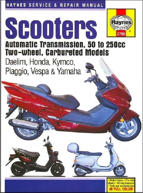 Scooters (Automatic Transmission) 50cc - 250cc Carbureted Models - Front Cover