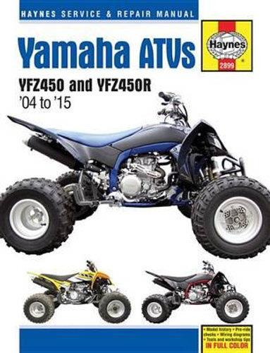 Yamaha YFZ450 & YFZ450R ATV 2004 - 2010 Haynes Owners Service & Repair Manual