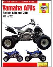 Yamaha Raptor 660 & 700 ATV 2001 - 2012 Haynes Owners Service & Repair Manual