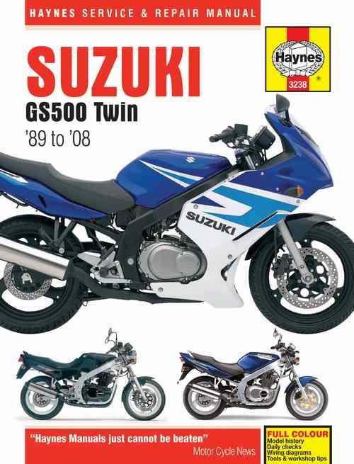 Suzuki GS500 Twin 1989 - 2008 Haynes Owners Service & Repair Manual - Front Cover