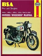 BSA Pre-unit Singles 1954 - 1961 Haynes Owners Service & Repair Manual - Front Cover