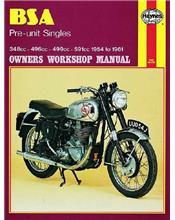 BSA Pre-unit Singles 1954 - 1961 Haynes Owners Service & Repair Manual