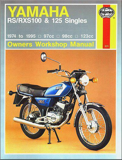 Yamaha RS100, RXS100, RS125 & RXS125 1974 - 1995 - Front Cover