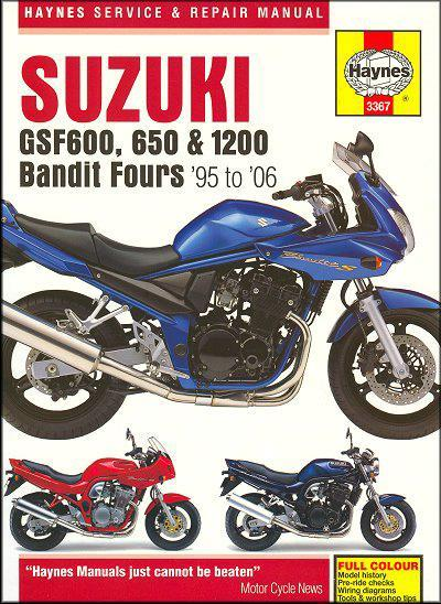Suzuki GSF600 650 & 1200 Bandit Fours 1995 - 2006 - Front Cover