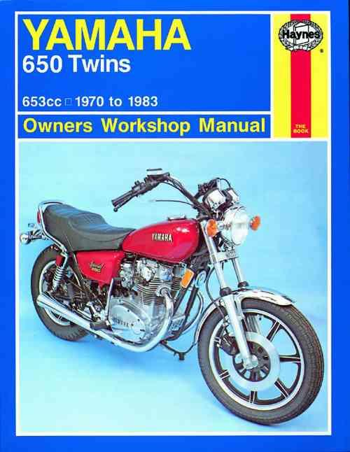 Yamaha 650 Twins 1970 - 1983 Haynes Owners Service & Repair Manual - Front Cover