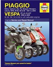 Piaggio & Vespa Scooters 1991 - 2009 Haynes Owners Service & Repair Manual