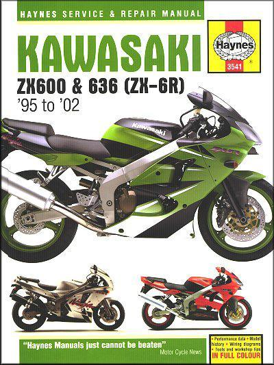 Kawasaki ZX600, 636 (ZX-6R) 1995 - 2002 Haynes Owners Service & Repair Manual