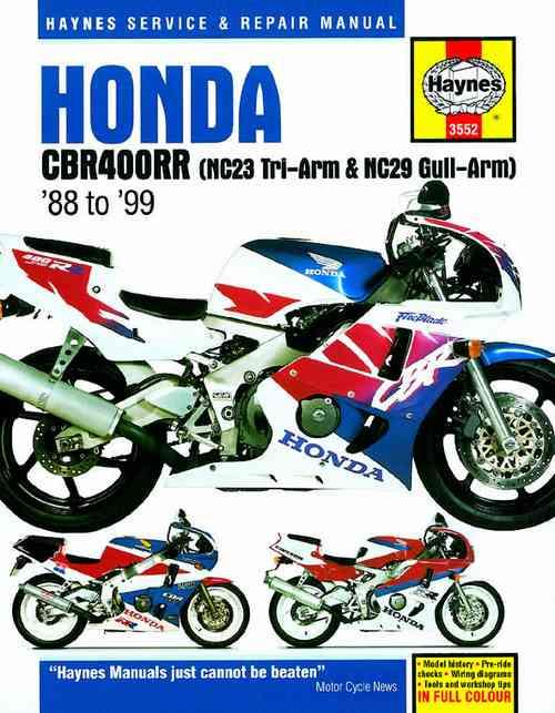 Honda CBR400RR Fours 1988 - 1999 Haynes Owners Service & Repair Manual