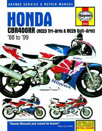 Honda CBR400RR Fours 1988 - 1999 Haynes Owners Service & Repair Manual - Front Cover