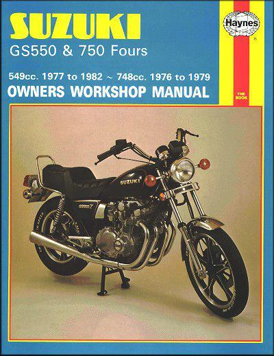 Suzuki GS550 & GS750 Fours 1976 - 1982 Haynes Owners Service & Repair Manual - Front Cover
