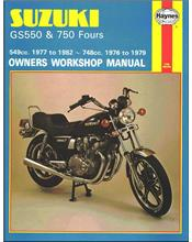 Suzuki GS550 & GS750 Fours 1976 - 1982 Haynes Owners Service & Repair Manual