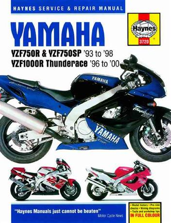 Yamaha YZF750R, YZF750SP & YZF1000R Thunderace 1993 - 2000 - Front Cover
