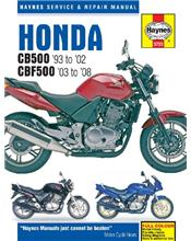Honda CB500 & CBF500Twin 1993 - 2008 Haynes Owners Service & Repair Manual