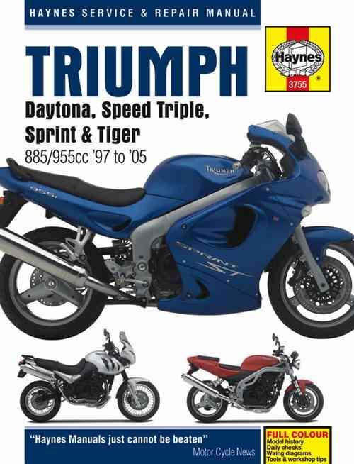 Triumph Daytona, Speed Triple, Sprint & Tiger 1997 - 2005 - Front Cover