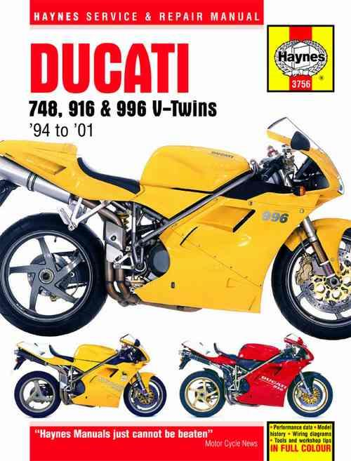 Ducati 748, 916 & 996 V-twins 1994 - 2001 Haynes Owners Service & Repair Manual - Front Cover