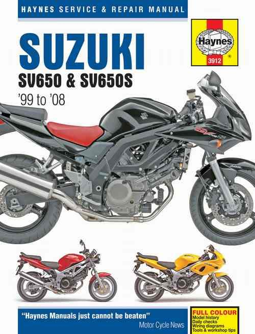 Suzuki SV650 & SV650S 1999 - 2008 Haynes Owners Service & Repair Manual