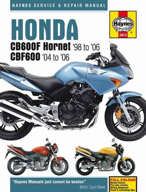 Honda CB600F Hornet & CBF600 1998 - 2006 Haynes Owners Service & Repair Manual - Front Cover