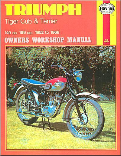 Triumph Tiger Cub & Terrier 1952 - 1968 Haynes Owners Service & Repair Manual - Front Cover