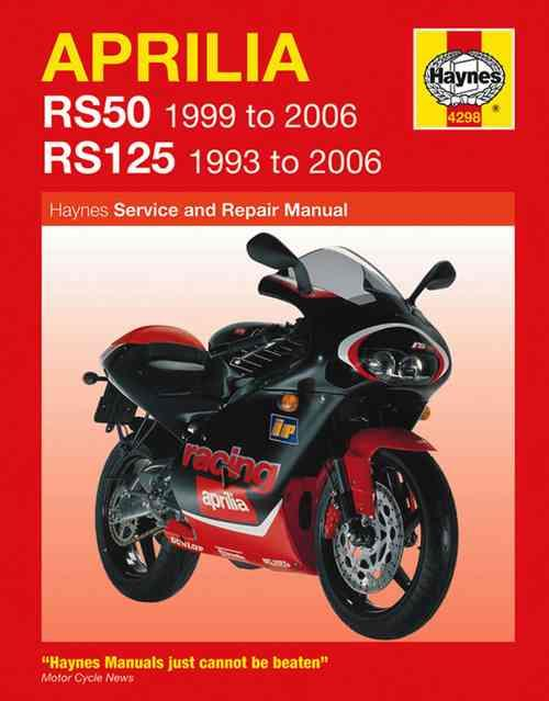Aprilia RS50 & RS125 1993 - 2006 Haynes Owners Service & Repair Manual - Front Cover