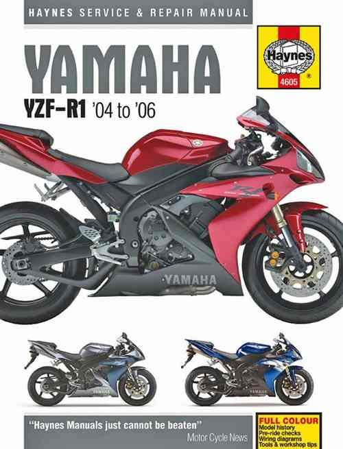 Yamaha YZF-R1, YZF-R1 SP 2004 - 2006 Haynes Owners Service & Repair Manual
