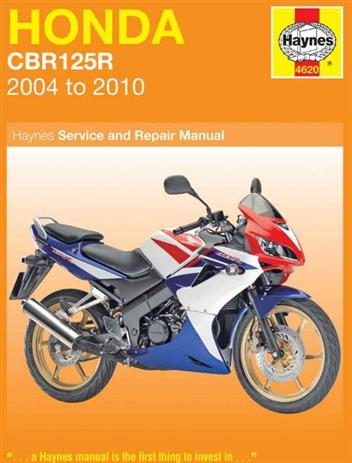 Honda CBR125R 2004 - 2010 Haynes Owners Service & Repair Manual - Front Cover