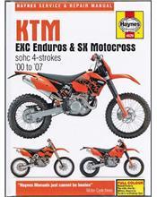 KTM EXC Enduro & SX Motocross SOHC 4 Strokes 2000 - 2007 Workshop Manual